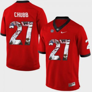 Men Pictorial Fashion #27 Georgia Nick Chubb college Jersey - Red