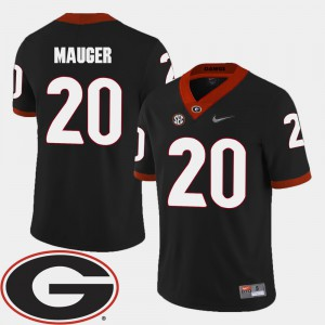 Men's Football Georgia Bulldogs #20 2018 SEC Patch Quincy Mauger college Jersey - Black