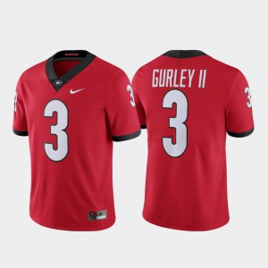 Men's Limited Alumni Georgia Bulldogs #3 Todd Gurley II college Jersey - Red