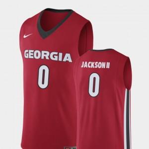 Mens #0 Basketball GA Bulldogs Replica William Jackson II college Jersey - Red